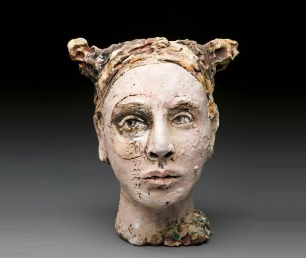 ceramic sculpture design lady face