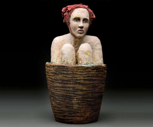 ceramic sculpture design women sitting
