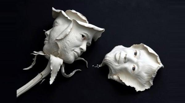 ceramic sculpture design beautiful rose face