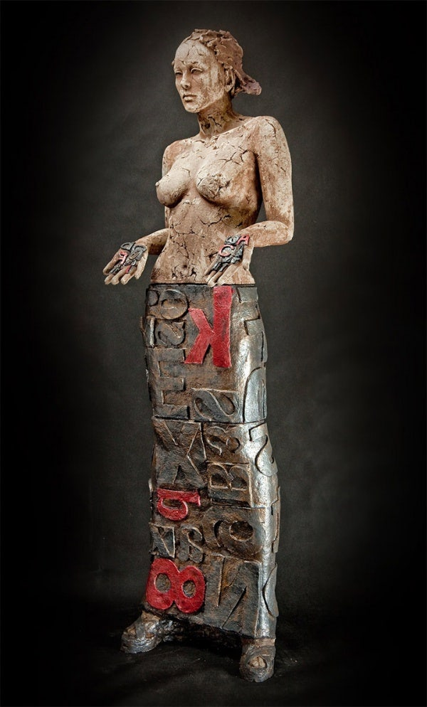 ceramic sculpture design nude women