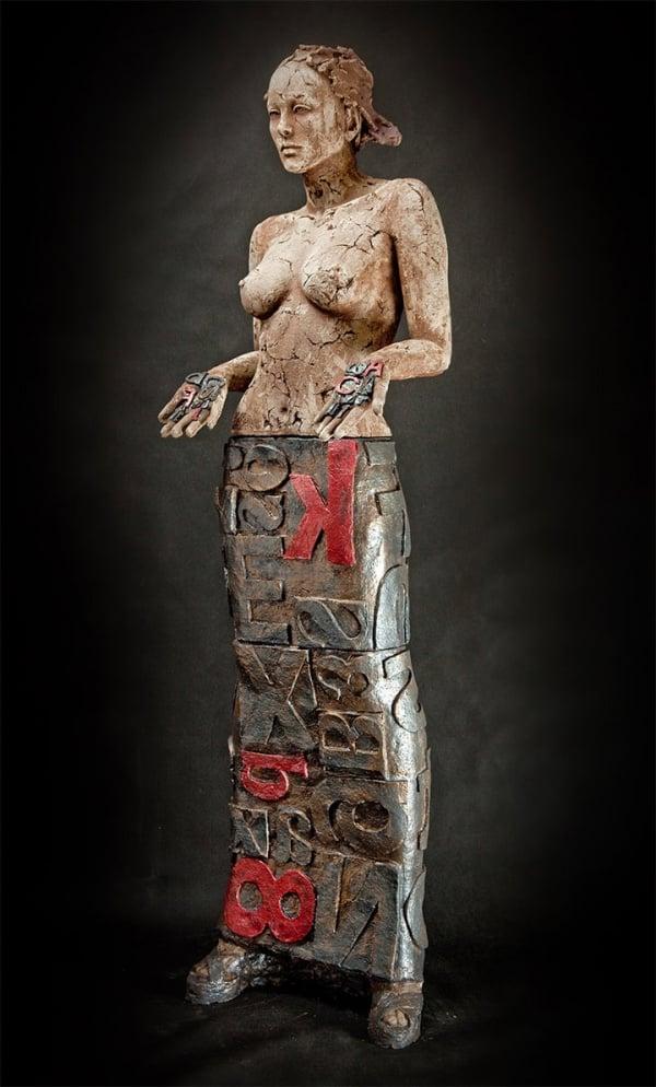 ceramic sculpture design nude women