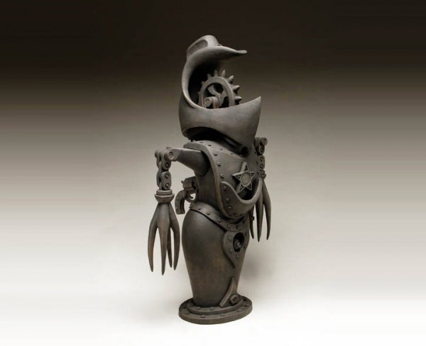 ceramic sculpture design war protector suit