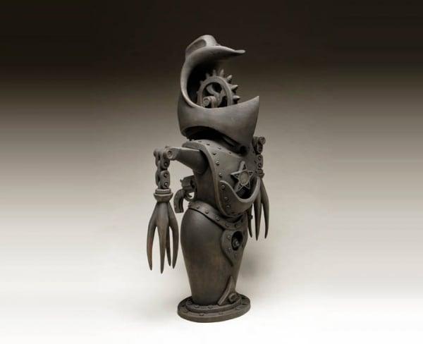 ceramic sculpture design war protector suit