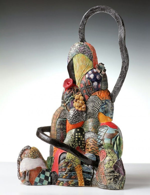 ceramic sculpture design mountain art