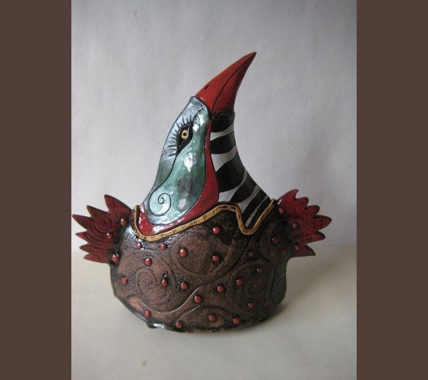 ceramic sculpture artworks sea bird design