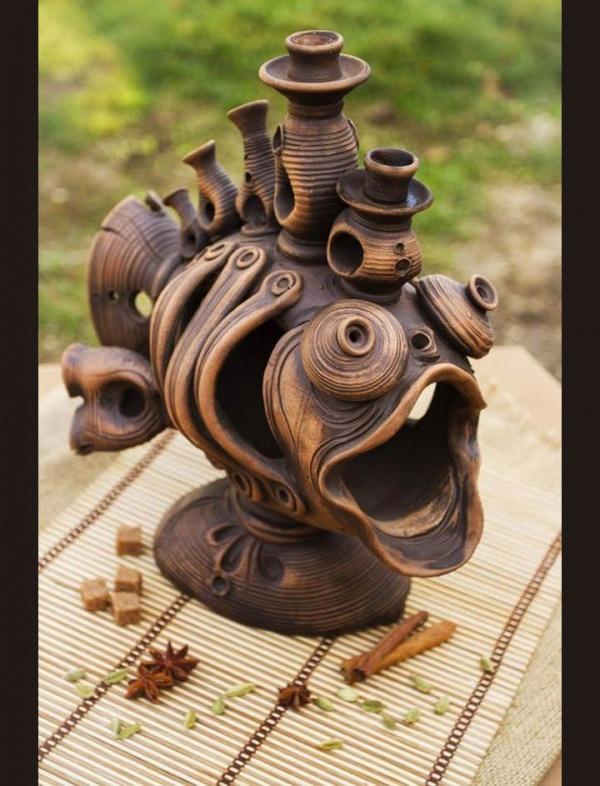 ceramic sculpture artworks fish with new design