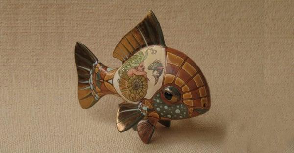 ceramic sculpture artworks new dwsin fish