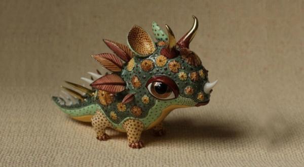 ceramic sculpture artworks monster art design