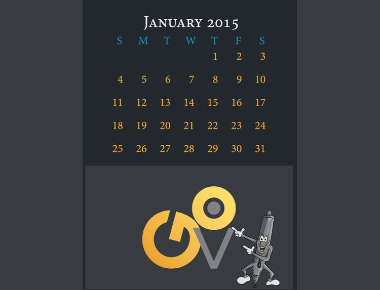 12 page 2015 calendar template