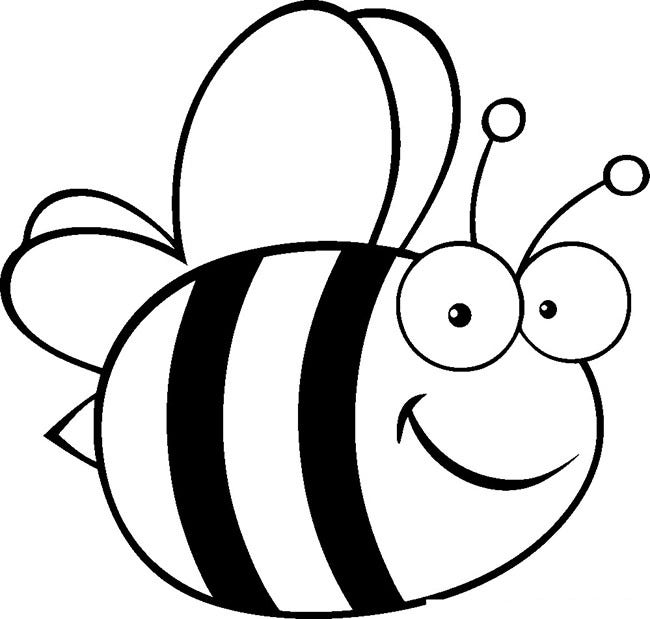 bumble bee coloring pages printable - bee template animal templates free premium templates