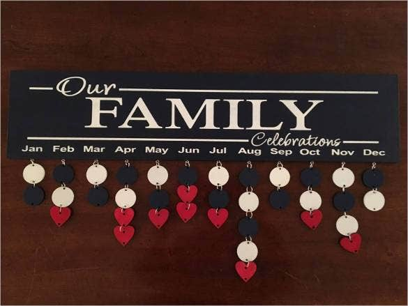 family birthday calendar diy board1