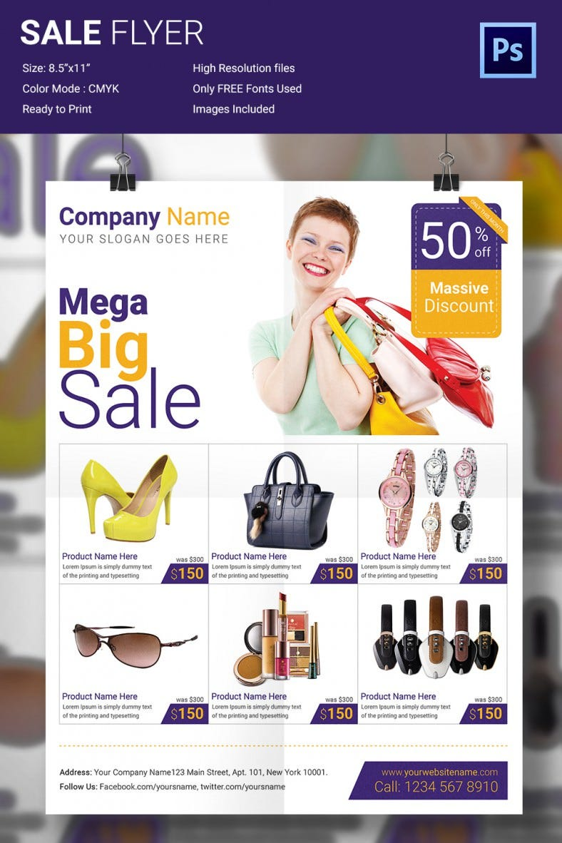 15 modern psd advertising flyer templates premium templates mega fashion shopping ad flyer template