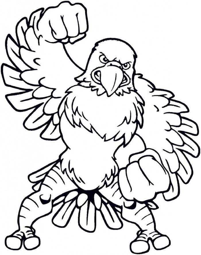 Philadelphia Eagles Birthday Invitation Template Coloring