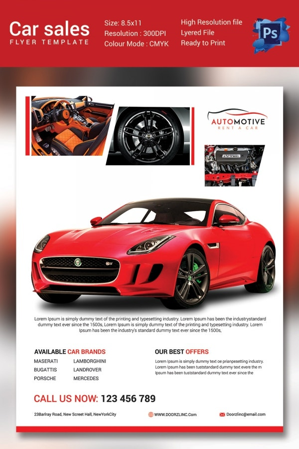 Sales Flyer Template 61 Free PSD Format Download – Car for Sale Flyer Template