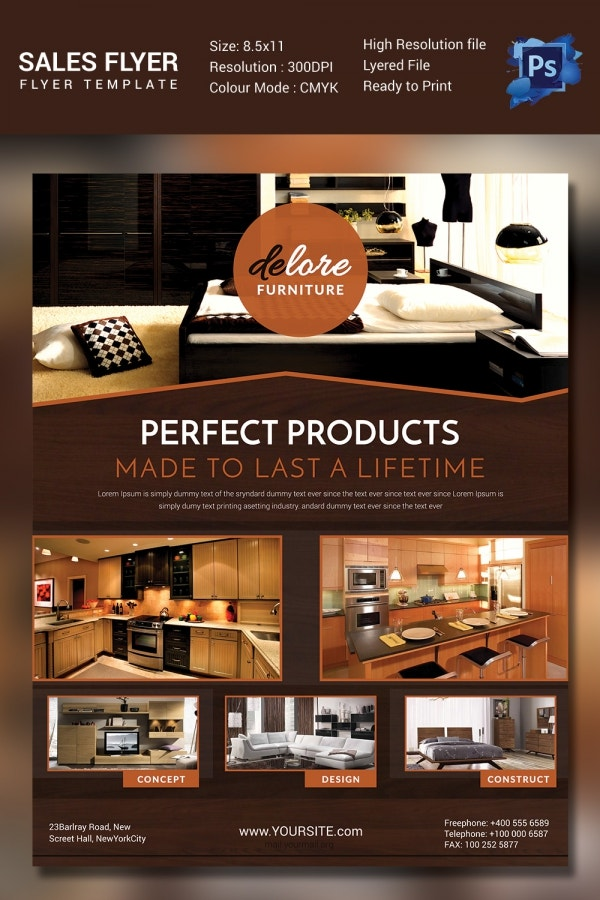 Furniture Sales Promotion Flyer Template