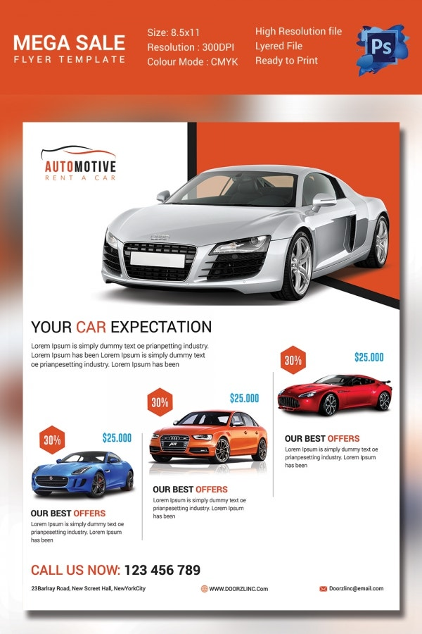 Automotive Car Sales Template
