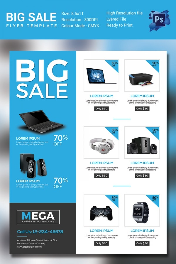 Sales Flyer Template   Free Psd Format Download  Free