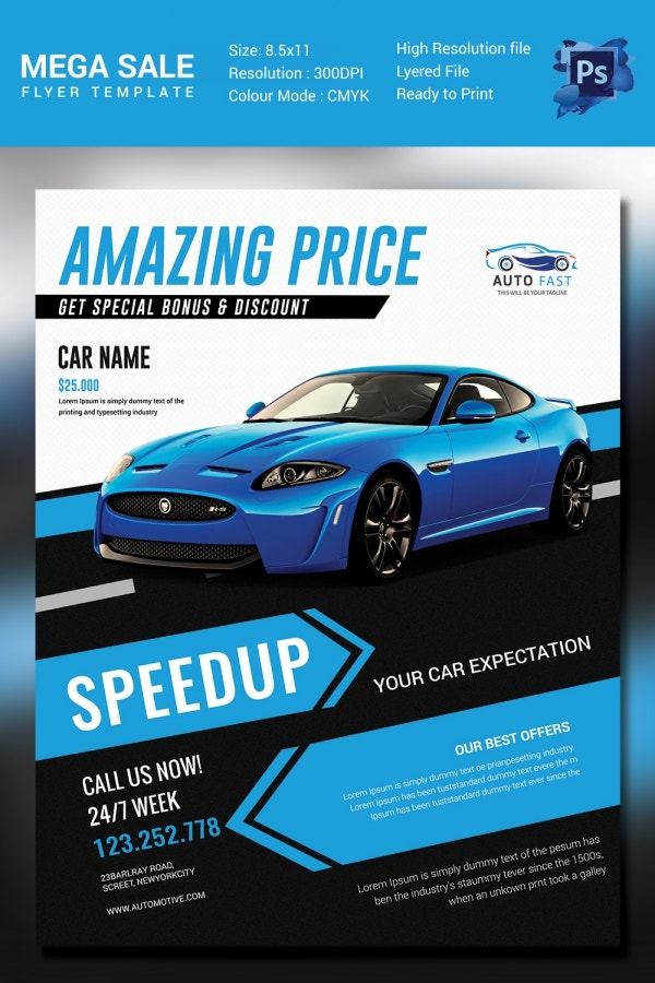 Car Flyers. Mega Car Sale Flyer Template Sales Flyer Template - 61