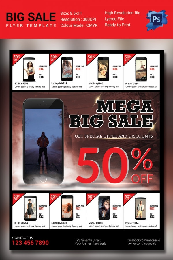Mobiles Mega Big Sale Template