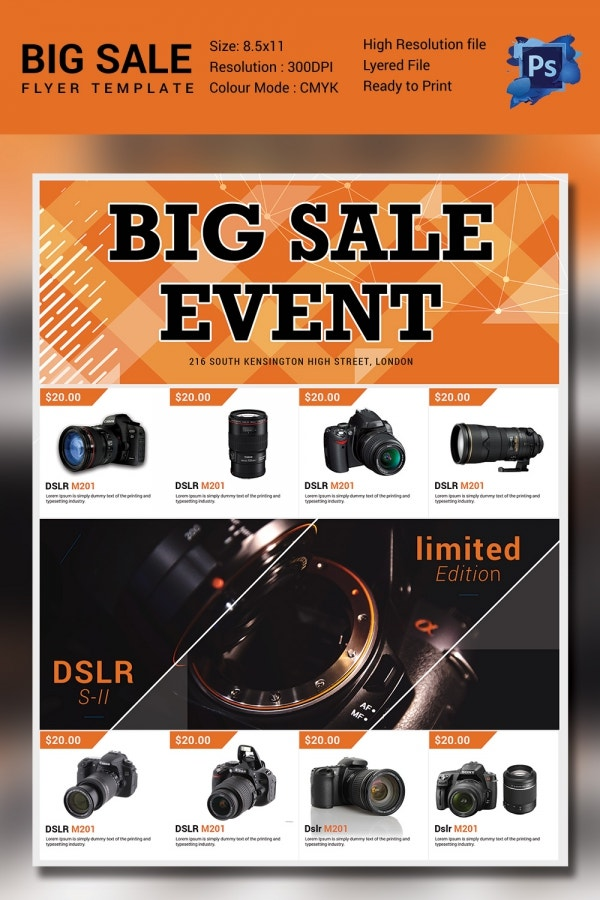 Sale Event Flyer Template