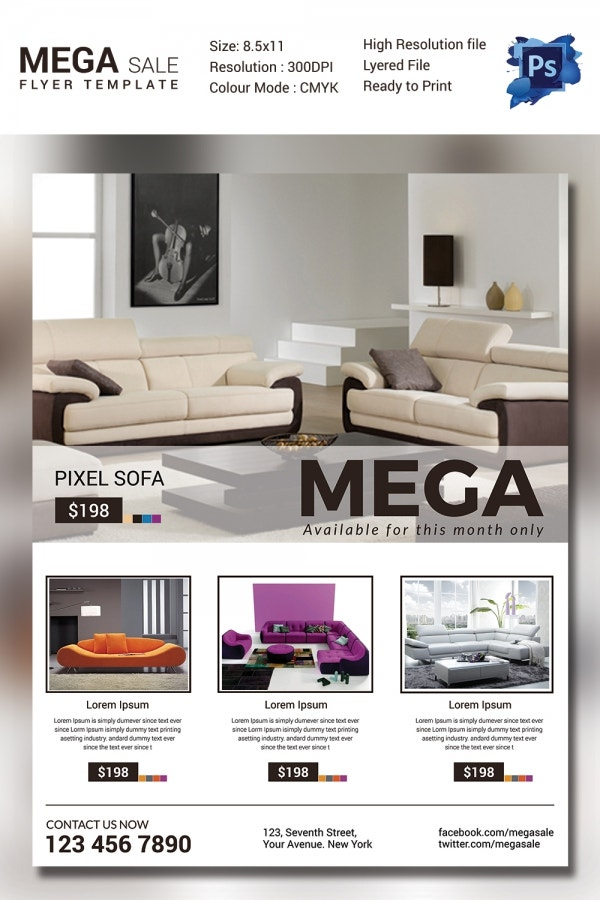 Sofa Mega Sale Flyer