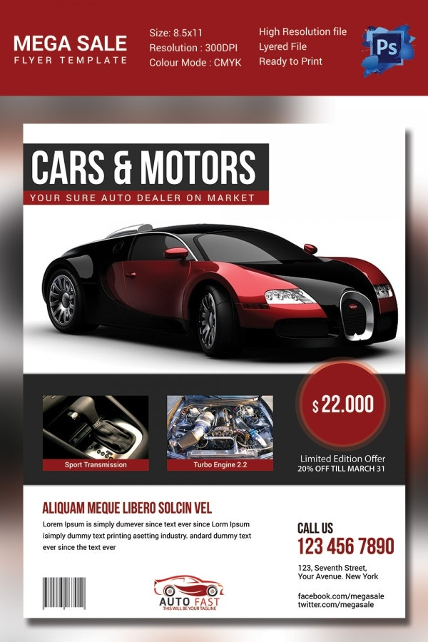 Sales Flyer Template 61 Free PSD Format Download – Car for Sale Flyer