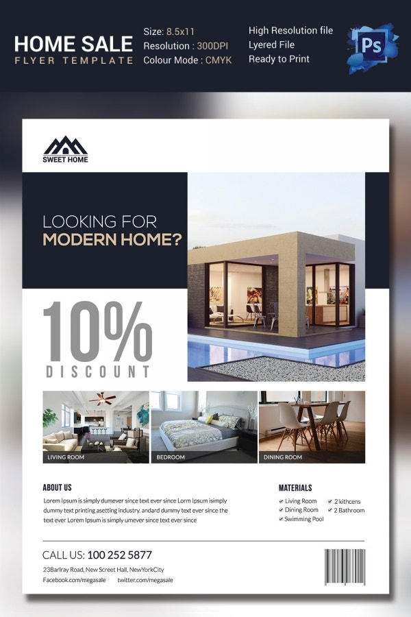 Modern Home Sales Flyer