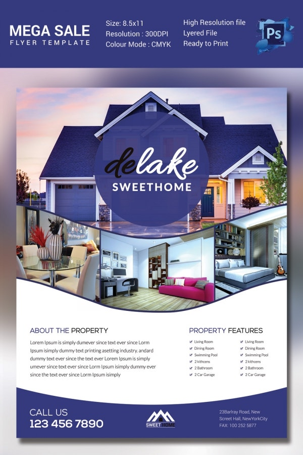 House For Sale Flyer Template Flyer Real Estate Listing