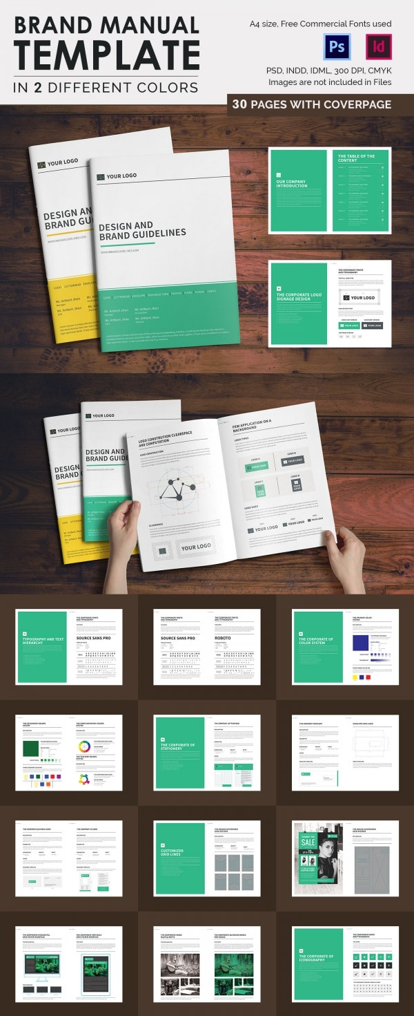 PSD Catalogue Template 53 PSD Illustrator EPS Indesign – It Manual Templates to Download