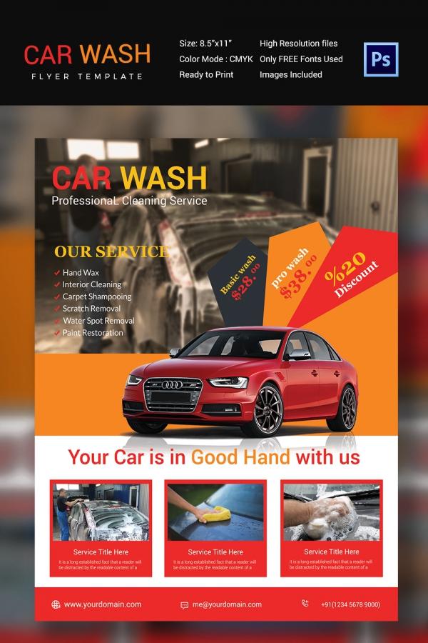 Editable Car Wash Flyer