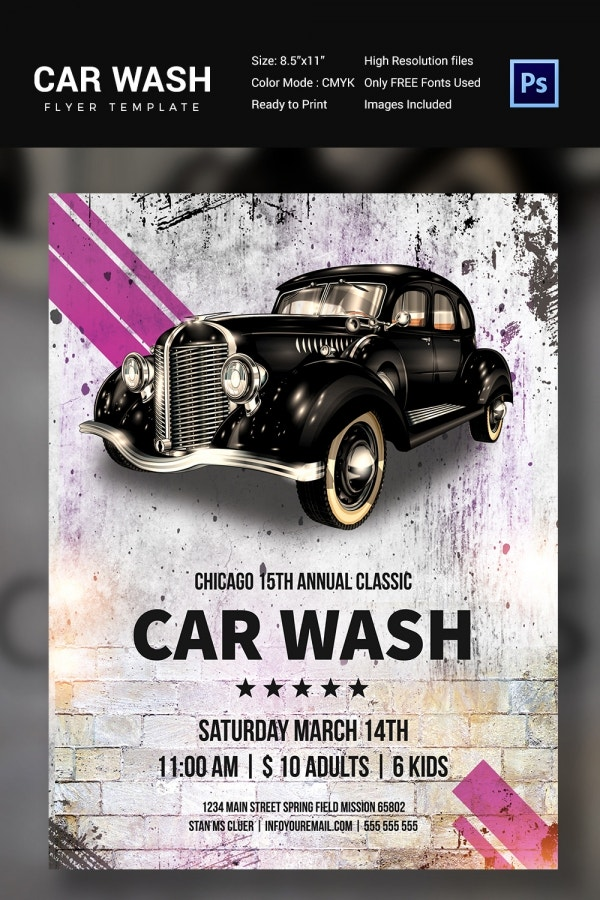Car Wash Flyer 48 Free PSD EPS Indesign Format Download – Car Flyers