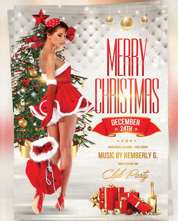 sexy christmas flyer template photoshop psd
