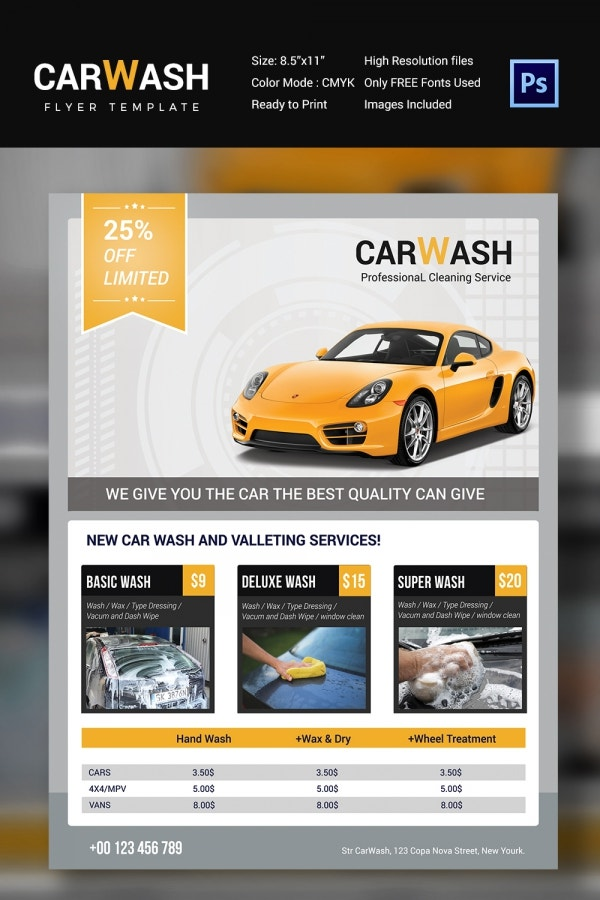 Car Wash Flyer 48 Free PSD EPS Indesign Format Download – Car Wash Flyer Template