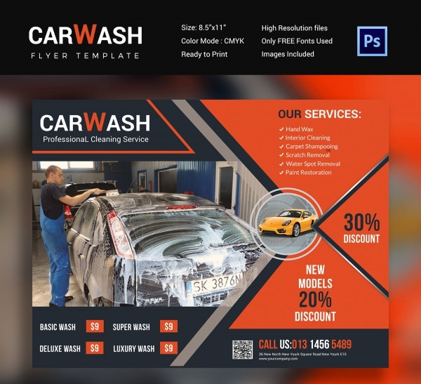 Cool Car Wash Flyer Design