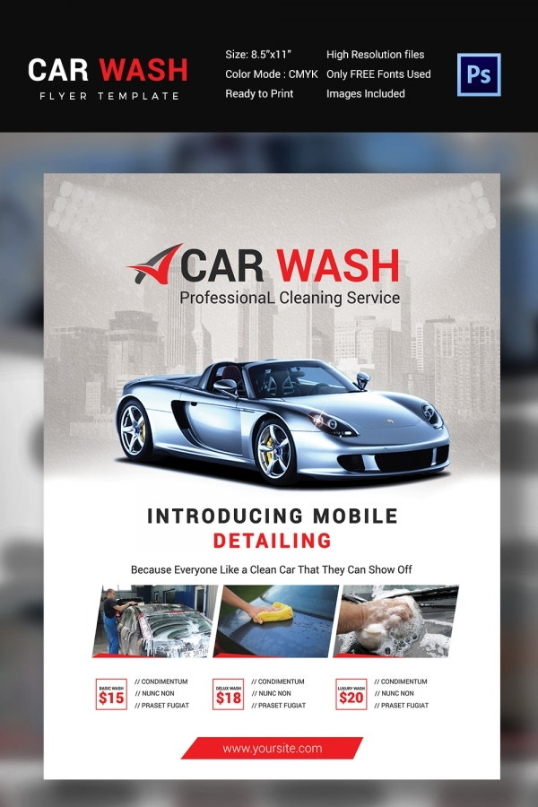 Car Wash Flyer - 48+ Free Psd, Eps, Indesign Format Download
