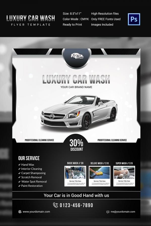 Premium Car Wash Flyer