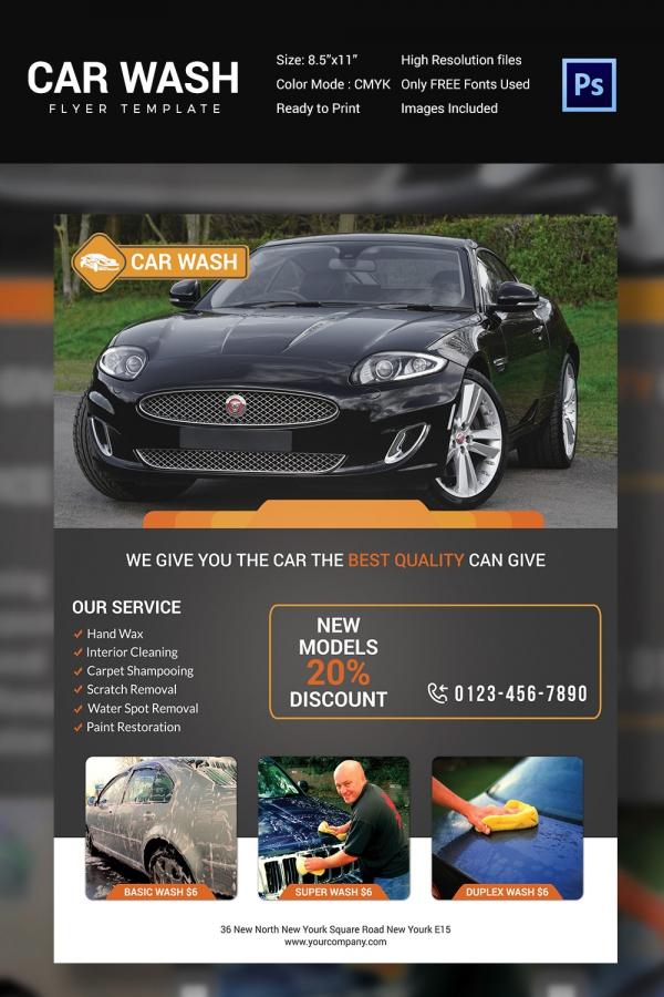 Car Wash Announcement Promotional Flyer