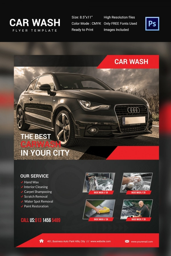 Carwash on Clarence Promotion Flyer