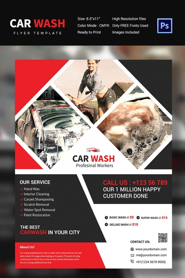 car wash flyer 48 free psd eps indesign format download free premium templates. Black Bedroom Furniture Sets. Home Design Ideas