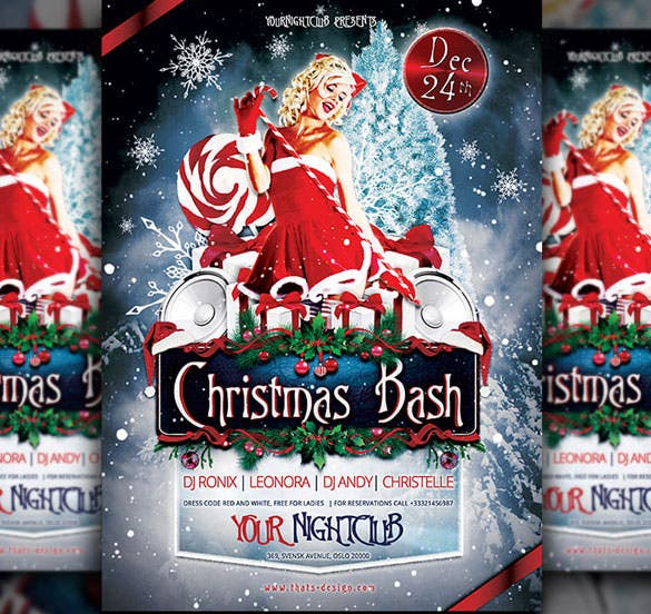 premium christmas bash flyer template download