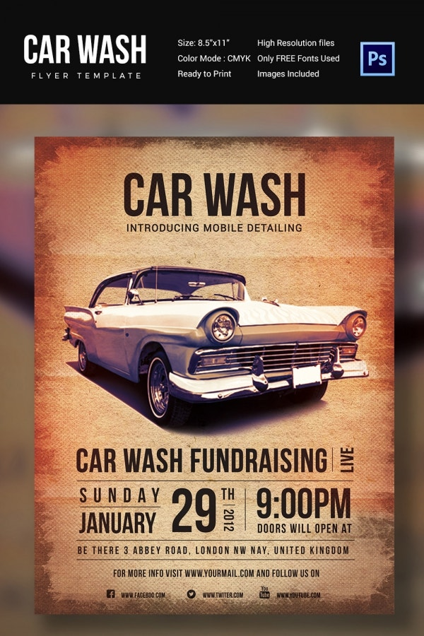 Fundraising Car Wash Flyer Template