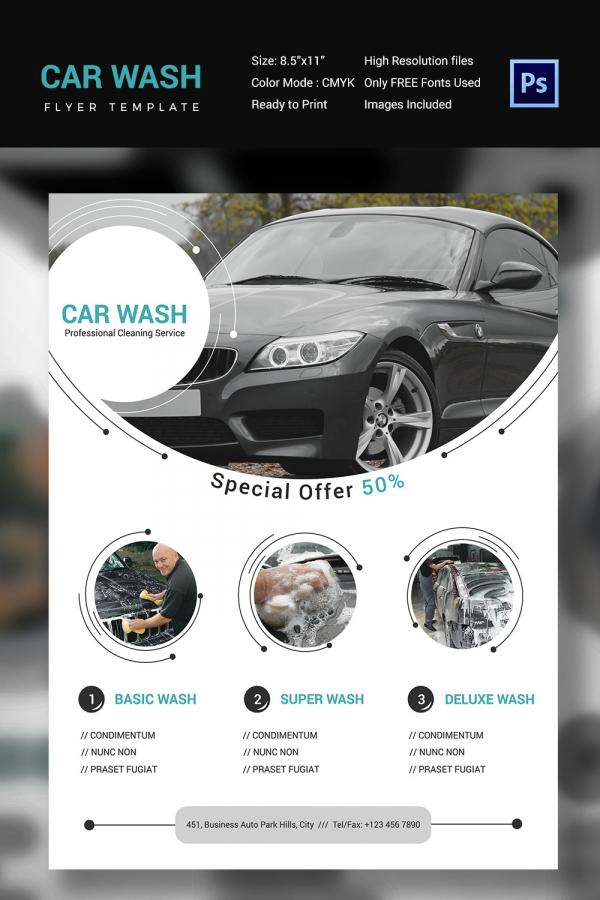 Special Offer Car Wash Flyer