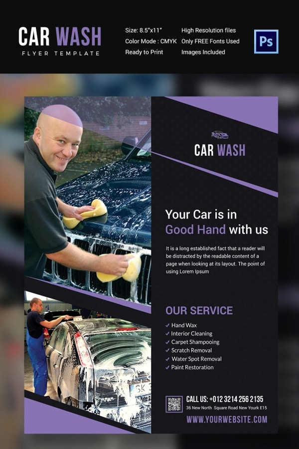 Car Wash Flyer 48 Free PSD EPS Indesign Format Download – Auto Detailing Flyer Template