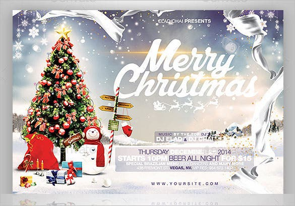 Christmas Flyer Templates 10 Word Amp Pdf Free