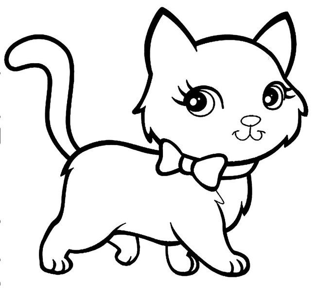 Cat shape template animal templates free premium for Baby kittens coloring pages