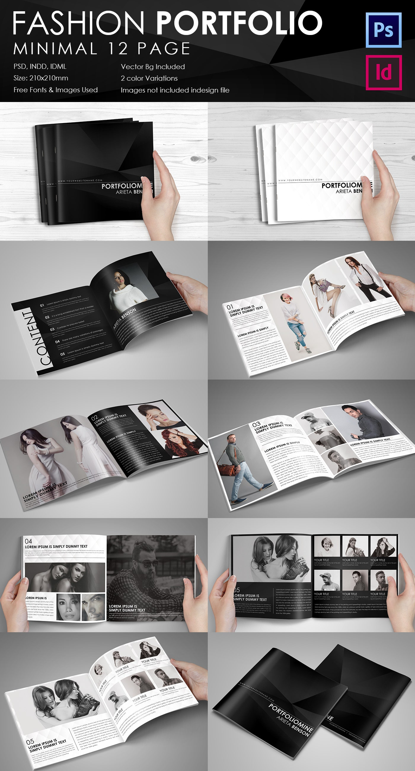 Fashion Brochure Template – 54+ Free PSD, EPS, AI, Indesign Format ...