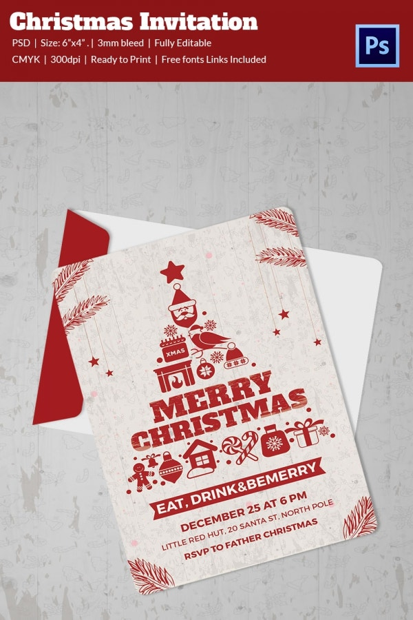 christmas invitation template for everyone