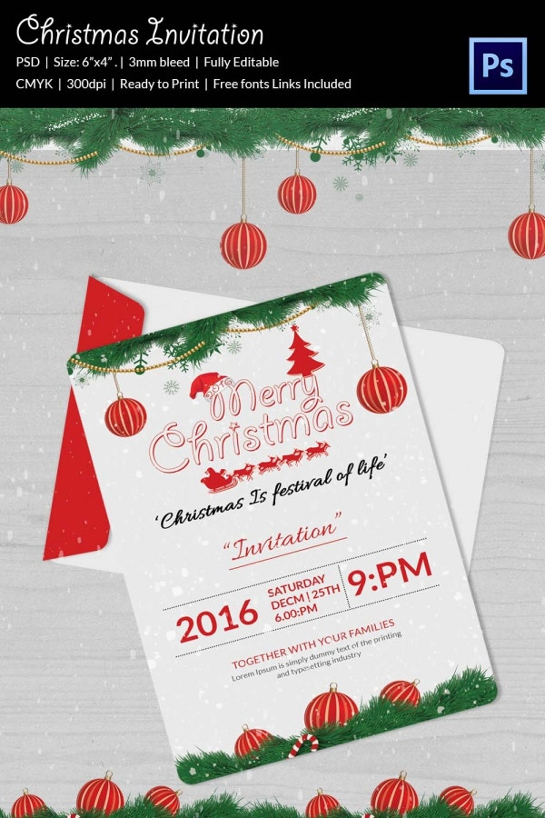 christmas party invitation holiday party invite