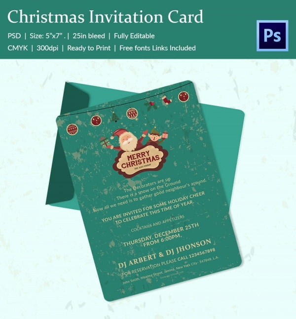 christmas invitation template download