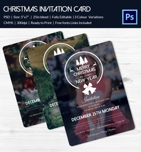frost christmas party invitation card